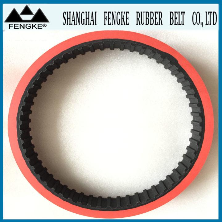Red Rubber Coating Rubber Timing Belts Shanghai Fengke